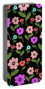 Retro Florals Portable Battery Charger by Louisa Knight