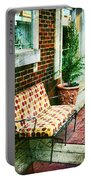 Retro Grunge Sidewalk Bench Seat Portable Battery Charger