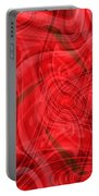 Ribbons Of Red Abstract Portable Battery Charger by Carol Groenen