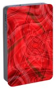 Ribbons Of Red Abstract Portable Battery Charger