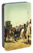 Richard Coeur De Lion On His Way To Jerusalem Portable Battery Charger