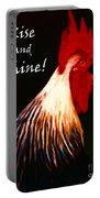 Rise And Shine - Rooster Clucking - Painterly Portable Battery Charger