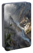 Rising Mists From Grand Canyon Of The Yellowstone Portable Battery Charger