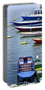River Boats On Danube Portable Battery Charger