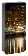 River Front At Night Portable Battery Charger