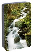 River With Trees In The Forest Portable Battery Charger