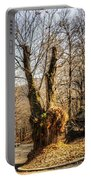 Road Curve With Trees Portable Battery Charger