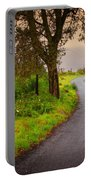 Road On Woods Portable Battery Charger by Carlos Caetano