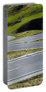 Road With Curves Portable Battery Charger by Mats Silvan