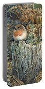 Robin Christmas Card Portable Battery Charger