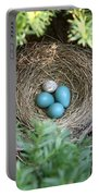 Robins Nest And Cowbird Egg Portable Battery Charger