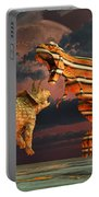 Robotic T. Rex & Triceratops Battle Portable Battery Charger