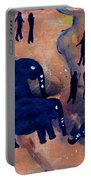 Rock Art No 3 Elephant Sighting Portable Battery Charger