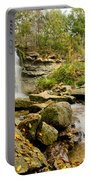Rock Glen Falls Portable Battery Charger by Cale Best