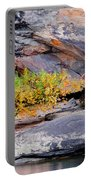 Rock Shrub And Bluff At Cumberland Falls State Park Portable Battery Charger