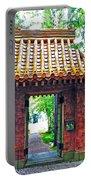Rockefeller Garden Entry Portable Battery Charger