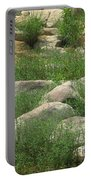 Rocks And Grass At Amidon Conservation Area Missouri Portable Battery Charger