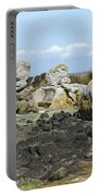 Rocks At Low Tide Iles Chausey Portable Battery Charger