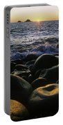 Rocks At The Coast, Giants Causeway Portable Battery Charger