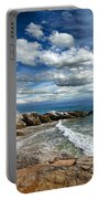 Rocky Coast In Malibu California Portable Battery Charger