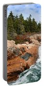 Rocky Maine Coastline. Portable Battery Charger