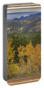 Rocky Mountain Autumn Picture Window Scenic View Portable Battery Charger