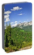 Rocky Mountain View From Mount Revelstoke Portable Battery Charger