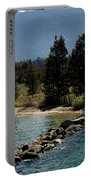 Rocky Retaining Wall Lake Tahoe Portable Battery Charger
