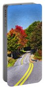Rolling Thru West Virginia Impasto Portable Battery Charger