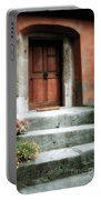 Roman Door And Steps Rome Italy Portable Battery Charger