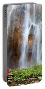 Romantic Scenery By The Waterfall Portable Battery Charger