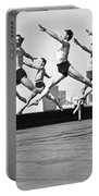 Rooftop Dancers In New York Portable Battery Charger
