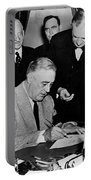 Roosevelt Signing Declaration Of War Portable Battery Charger