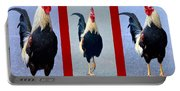 Rooster Triptych Portable Battery Charger
