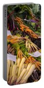 Root Vegetables At The Market Portable Battery Charger