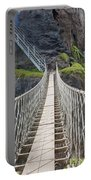 Rope Bridge At Carrick-a-rede In Northern Island Portable Battery Charger