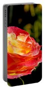 Rose After A Rain Shower Portable Battery Charger