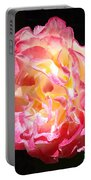 Rose Floral Fine Art Prints Pink Roses Flower Portable Battery Charger