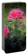 Rose Vignette Portable Battery Charger