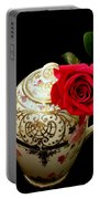 Rose With China Teapot Portable Battery Charger