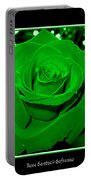 Rose With Green Coloring Added Portable Battery Charger