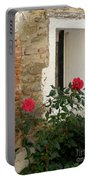 Roses And Antiquity  Portable Battery Charger
