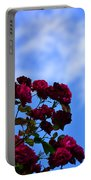Roses In The Sky Portable Battery Charger