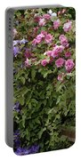 Roses On The Fence Portable Battery Charger