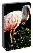 Rosette Spoonbill Shimmering Portable Battery Charger
