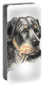Rottweiler-artwork Portable Battery Charger