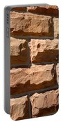 Rough Hewn Sandstone Brick Wall Of A Historic Building Portable Battery Charger