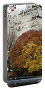 Round Autumn Trees Portable Battery Charger