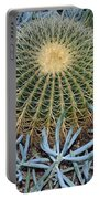 Round Cactus Portable Battery Charger
