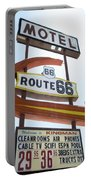 Route 66 Motel Sign 1 Portable Battery Charger
